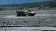 Stock Video Footage of Dump truck in river P HD 7989