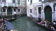 Stock Video Footage of Venice canal gondolas
