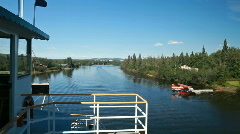 Fairbanks river side float plane P HD 7881 Stock Footage