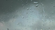 Stock Video Footage of Raindrops on gray and blue