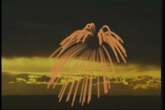 2109 Sunset fireworks - stock footage