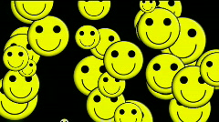 Emoticon Animation:yellow smile face.Childhood,children,cartoon,comic,young,patt Stock Footage