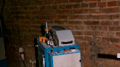 Machine for Weld plastic corner - edit cut Stock Footage