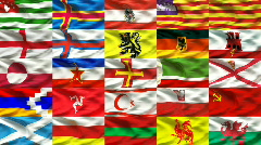 European flag collection 3/3 Stock Footage