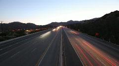 Chatsworth California Freeway Dusk Stock Footage