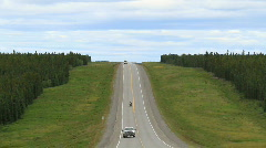 ALCAN highway traffic Canada P HD 1324 Stock Footage