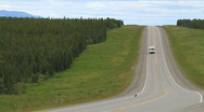 ALCAN Highway fast 1325 Stock Footage