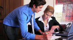 Business Team Conducts Research - stock footage
