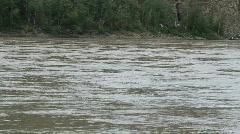Yukon river raft float P HD 1423 Stock Footage