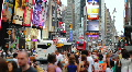 Crowd, Time Square, New York Footage