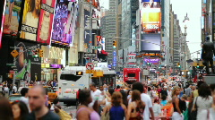 Crowd, Time Square, New York Stock Footage