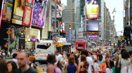 Stock Video Footage of Crowd, Time Square, New York