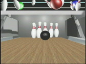 1910 bowling ball pin alley Stock Footage