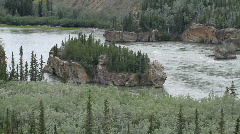 Yukon Territory River islands P HD 1400 Stock Footage