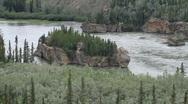 Yukon Territory River islands P HD 1400 Stock Footage