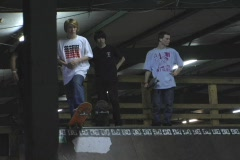 Skateboard grind bail MTV style - stock footage
