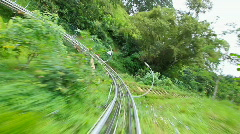 Roller coaster downhill ride Stock Footage