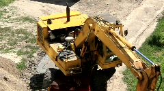 Yellow power shovel Stock Footage