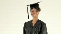 Young Woman Graduates - stock footage