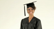 Young Woman Graduates Stock Footage