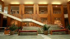 Bulding inside stairs and floors P HD 8054 Stock Footage