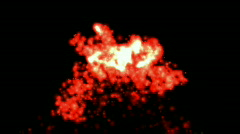 Abstract missiles launched nature volcano eruption war fireworks particles. Stock Footage