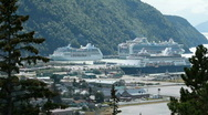 Stock Video Footage of cruise ship Skagway port P HD 8760