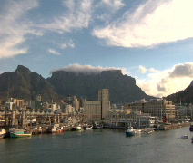 Capetown South Africa harbor daytime Time Lapse Stock Footage