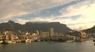 Capetown South Africa harbor Sunset Time Lapse Stock Footage
