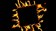 Fire flame. Square frame Stock Footage