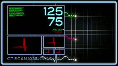 Kuvitteellinen Medical Screen 1840 Arkistovideo