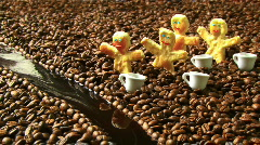 4 Cookie Man in Coffee Land Stock Footage