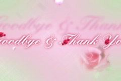 4017Cut Good bye and thank you Stock Footage