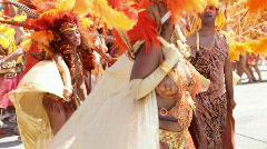 Caribana festival parade Stock Footage