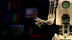 RoboThespian, the life-sized humanoid robot - stock footage