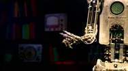 Stock Video Footage of RoboThespian, the life-sized humanoid robot
