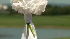 Flower Decoration at Wedding Stock Footage