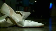 Dancing Bridal and Shoes Stock Footage