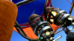 Fire from gas jet burner in hot air balloon Stock Footage