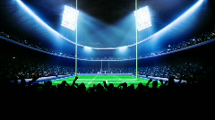 American football arena, stadium - stock footage