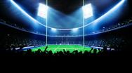 American football arena, stadium Stock Footage