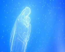 Blessed Virgin Mary GLASS SNOW Stock Footage