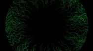 Stock Video Footage of Animation of green lines circle.Retina,idea,creativity,vj,beautiful,decorative,