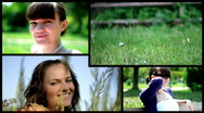 Attractive happy woman, montage Stock Footage