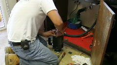 Stock Video Footage of plumber