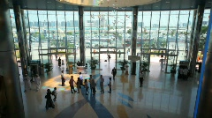 people comes in building in United Arab Emirates - stock footage