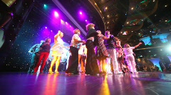 Dancing pensioners in Costa Deliziosa - the newest Costa cruise ship Stock Footage