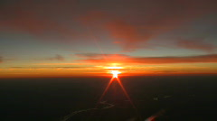 Pilots NYC Sunset3 CR Stock Footage