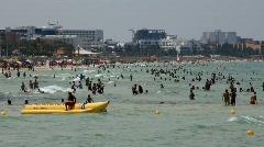 Beach in Tunisia Stock Footage