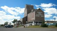 Dawson Creek Canada grain elevators pool P HD 7676 Stock Footage